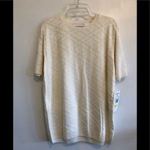 Alfred Dunner, NWT, short sleeve, size M ivory top